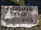 Profile photo:  Archibald Black