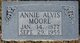 Profile photo:  Annie <I>Alvis</I> Moore