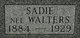 Profile photo:  Sadie <I>Walters</I> Blum