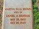 Martha Ella <I>Brown</I> Denham