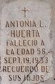Antonia <I>Lopez</I> Huerta