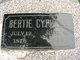 """Profile photo:  George Elbert """"Bertie"""" Cyphers"""