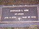"""Profile photo:  Donald L. """"Don"""" Ade"""