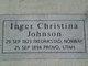 "Inger Kirstine ""Christena"" <I>Johnson</I> Berg"