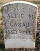 "Profile photo:  Alice Mary ""Allie"" <I>Babcock</I> Casad"