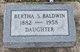 Profile photo:  Bertha <I>Stovall</I> Baldwin