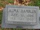 Alma Gertrude <I>Massey</I> Hamblin