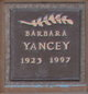 Profile photo:  Barbara Yancey