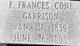 Florida Frances <I>Cone</I> Garrison