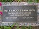 Betty Jean <I>Hooks</I> Bankston