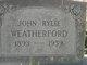 John Rylie Weatherford