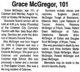 Annie Grace McGregor