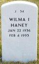 Wilma I Haney
