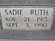 Profile photo:  Sadie Ruth Bryant