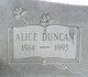 Profile photo:  Alice <I>Duncan</I> Rowell