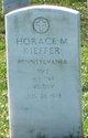 Profile photo: Pvt Horace M Kieffer