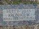 Profile photo:  Betty Joan Kronholm