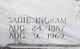 Sadie <I>Ingram</I> Lane