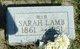 Sarah <I>Pressey</I> Lamb