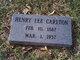 Henry Lee Carlton
