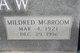 "Profile photo:  Mildred Eufaye ""Millie"" <I>McBroom</I> Bradshaw"