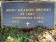Pvt John Meador Brooks