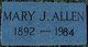 Mary Jane <I>Elliott</I> Allen