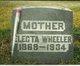 Profile photo:  Mary Electa <I>Ohler</I> Wheeler