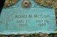 Profile photo:  Agnes Veronica <I>Maloney</I> McCoy