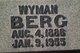 Wyman Oscar Berg