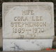 Cora Lee <I>Clark</I> Stephenson