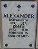 Profile photo:  Donald William Alexander