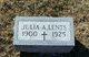 Julia A Lents