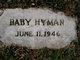 "Profile photo:  ""Baby"" Hyman"
