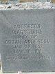 Mary Jane <I>Stephens</I> Anderson
