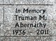 Profile photo:  Truman Merle Abernathy