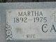 Martha <I>Puttmann</I> Cain