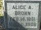 Profile photo:  Alice A Brown