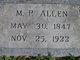 Profile photo:  M P Allen