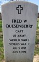 """Frederick William """"Fred"""" Quesenberry"""