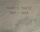 Mary Elizabeth <I>Lentz</I> Protz