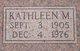 Kathleen M Green