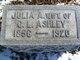 Profile photo:  Julia Ann <I>Cooper</I> Ashley