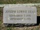 Joseph Lowrie Dean