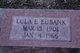 Lulu E. Eubank