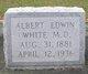 Dr Albert Edwin White, M.D.