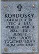 Gerald Joseph Kordosky, Sr