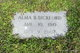 Edith Alma <I>Baker</I> Bickford