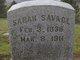Sarah <I>Brown</I> Savage