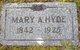 Mary Anne <I>Bryan</I> Hyde